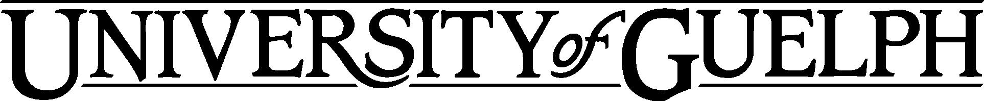 University of Guelph horizantal Identifier logotype
