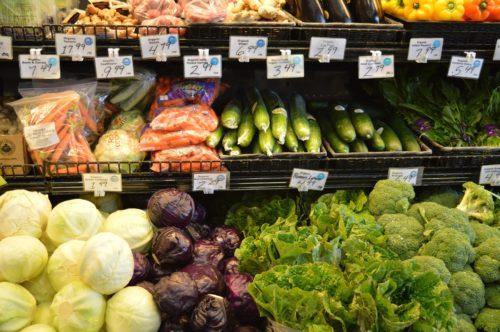 Various vegetables on display